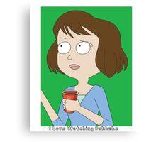 Rick and Morty: I Love Watching Bukkake Canvas Print