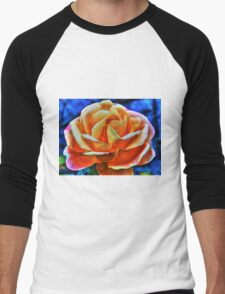 HDR flower Men's Baseball ¾ T-Shirt