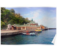 Martinique,customs house on beach Poster