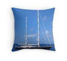 bajan sail  Throw Pillow
