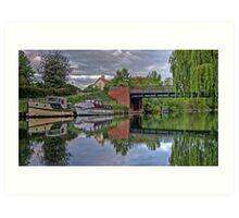 thames river boats HDR Art Print