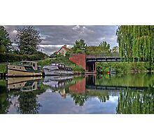 thames river boats HDR Photographic Print