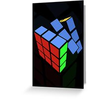 Rubics cube Greeting Card