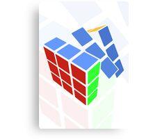 Rubics cube - white background Canvas Print