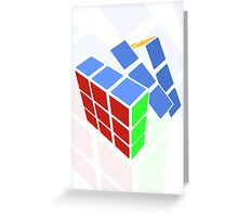 Rubics cube - white background Greeting Card
