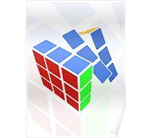 Rubics cube - white background Poster