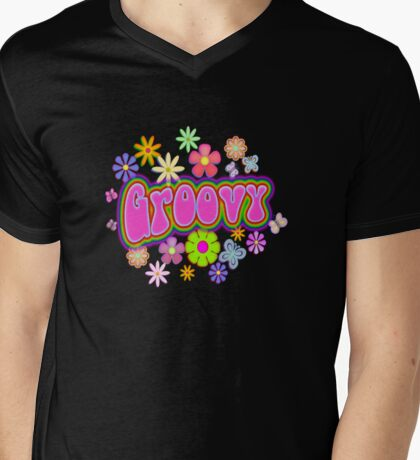 Groovy Mens V-Neck T-Shirt