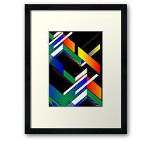 Retro square design Framed Print