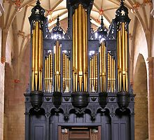 The Milton Organ, Tewkesbury Abbey, Gloucestershire, English West Midlands by Philip Mitchell