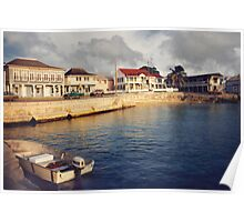 Curacao water front homes Poster