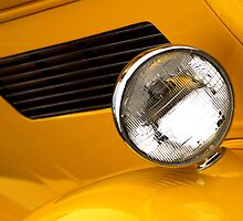 Yellow classic car fender and light by JEOtterbacher
