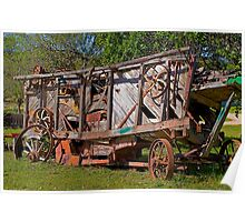 Old Farming Equipment. Poster