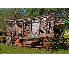 Old Farming Equipment. Photographic Print