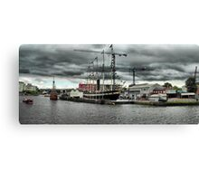 The SS Great Britain and the Mathew docked at  Bristol Harbour. Canvas Print