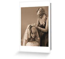 Twin Sisters Greeting Card