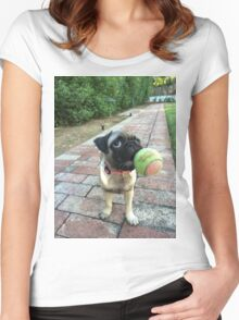 Pug Time Women's Fitted Scoop T-Shirt
