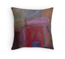 the house that dog built Throw Pillow