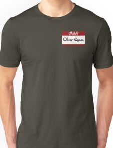 """Nametag Parody: """"My Name is Oliver Queen"""" Unisex T-Shirt"""