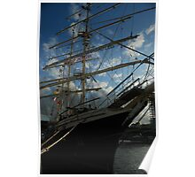 Tall Ship Tenacious - 3 rigged barque by Kevin Poster