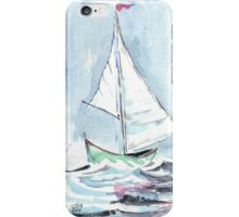 Nautical theme - Sail away from the safe harbour iPhone Case/Skin
