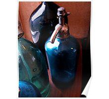 Vintage fizzy water bottles Poster