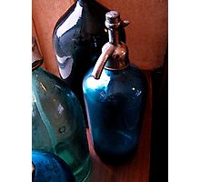 Vintage fizzy water bottles Photographic Print