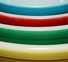 4 bowls - 50's style by Lynne Prestebak