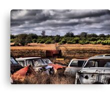 Parts Here, There and Everywhere      ( BoneYard Series ) Canvas Print