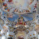 Ceiling of church of Wieskirche - Germany by Arie Koene