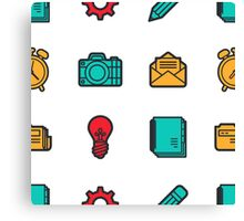 Workaholic - Icon Pattern Canvas Print