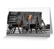 Skull Wagon Greeting Card