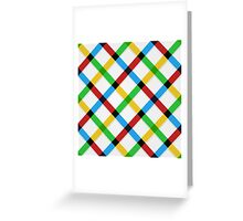 Checkered Greeting Card