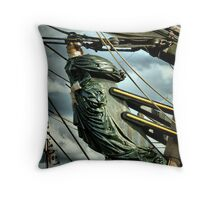 Lady of the waves COLOUR ... Throw Pillow