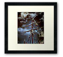Tall Ships & silver birds (2) Framed Print