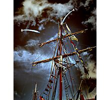 Tall Ships & silver birds (2) Photographic Print