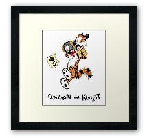 Dovahkiin and Khajiit We Know Framed Print