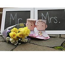 cute bride mr & mrs Photographic Print