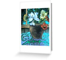 blue ginger flowers Greeting Card