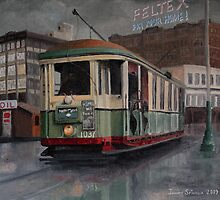Sydney O-class Tram at Railway Square by Joseph Spinella