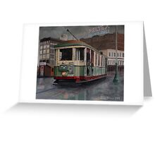 Sydney O-class Tram at Railway Square Greeting Card
