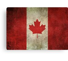 Old and Worn Distressed Vintage Flag of Canada Canvas Print