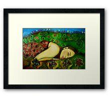 Girl in a Hundertwasser Landscape Framed Print