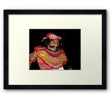 Masked Dancer, Ubud, Bali Framed Print