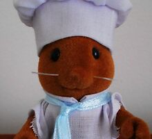 Sylvanian Families ~ Chef Mouse Basil by Forever Feline