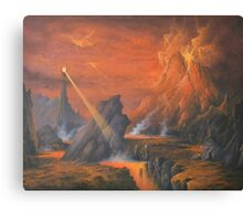 Mount Doom The Eye Of Sauron. Canvas Print