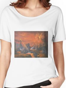 Mount Doom The Eye Of Sauron. Women's Relaxed Fit T-Shirt