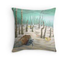 hermit of simpsons lake Throw Pillow