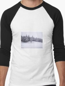 Winter Scene Men's Baseball ¾ T-Shirt