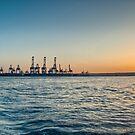 Sunset over the Freeport by Jakov Cordina