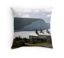 Cuckmere Cottages Throw Pillow